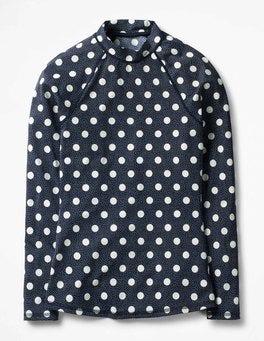 Navy/Ivory Spot Rash Vest