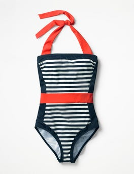 Navy/Ivory Stripe Santorini Swimsuit