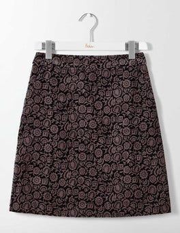Pewter Winter Floral Mimi Velvet Skirt