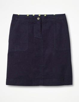 Navy Chino Skirt