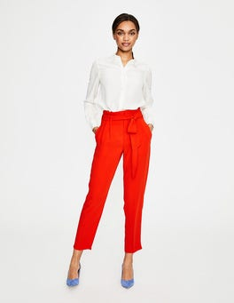 Red Pop Melina Paperbag Trousers