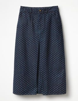 Indigo Denim With Spot Mira Denim Skirt