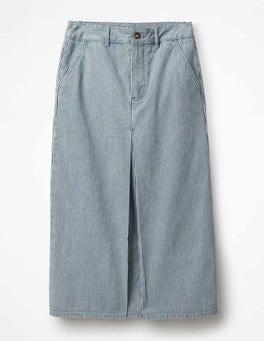 Ticking Stripe Mira Denim Skirt