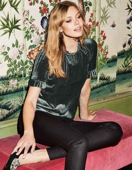 T-shirt Nicola en velours