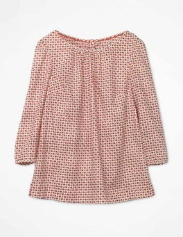 Ivory and Rosehip Red , Berry Yvonne Top
