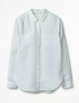 Blanc La chemise en lin