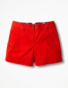 Red Pop Rachel Chino Shorts