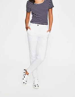White Rachel Chino Trousers