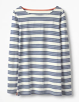Ivory/Mariner Blue Long Sleeve Breton