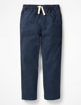 School Navy Pull-on Chinos
