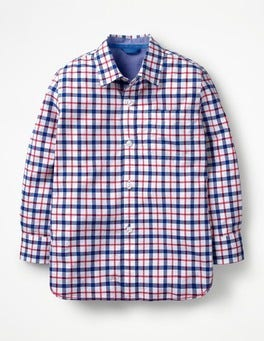 Salsa Red/Blue Multi Gingham Laundered Shirt