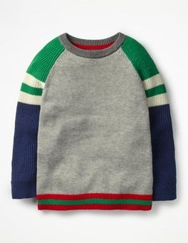 Grey Marl/Green Hotchpotch Hotchpotch Crew Sweater