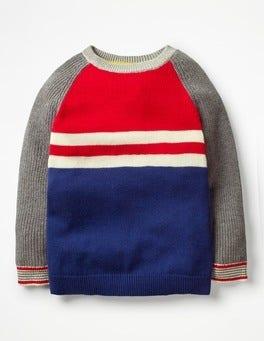 Salsa Red/Blue Hotchpotch Hotchpotch Crew Sweater