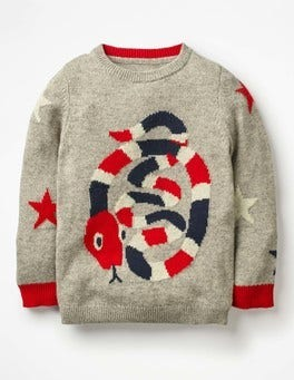 Graphic Crew Sweater