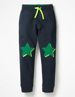 School Navy Stars Applique Joggers