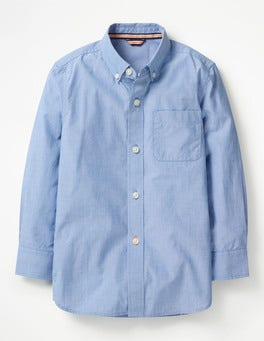 Wave Blue End-on-end Smart Shirt