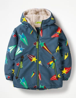 Robot Blue Superstar Sherpa-lined Anorak