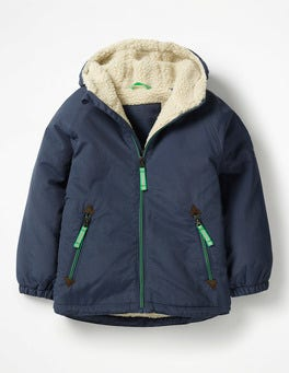 School Navy Sherpa-lined Anorak