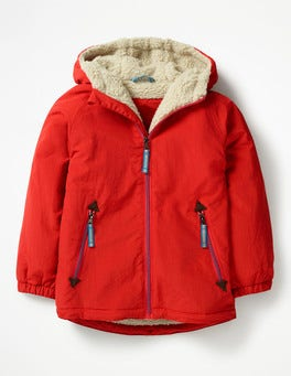 Salsa Red Sherpa-lined Anorak