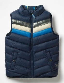 School Navy Lighting Bolt Reversible Gilet