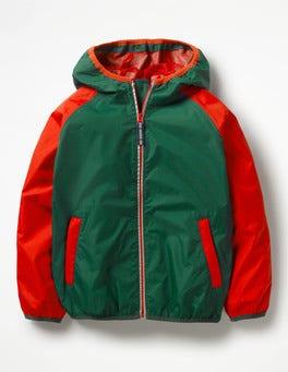 Scots Pine Green/Salsa Red Packaway Waterproof Jacket