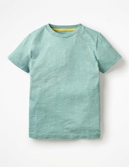 Dolphin Blue Slub Washed T-shirt