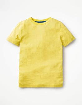 Sweetcorn Yellow Slub Washed T-shirt