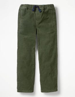 Cucumber Green Cord Pull-on Trousers