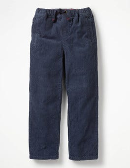School Navy Cord Pull-on Trousers