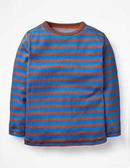 Electric Blue/Mud Pie Brown Supersoft T-shirt