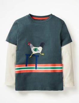 Robot Blue Hen Active Animals T-shirt