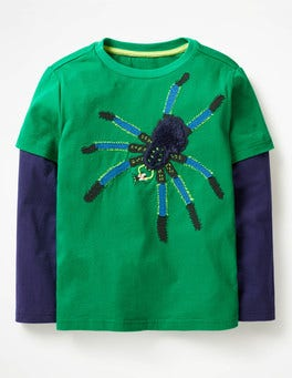 Watercress Green Spider Creepy Crawly T-shirt