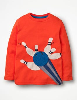 Clown Fish Orange Bowling Bouclé Sports T-shirt
