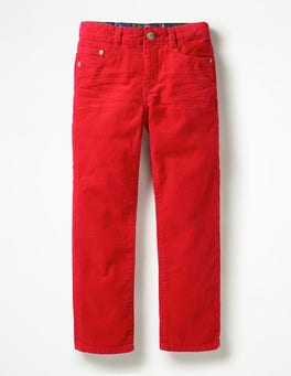 Candy Apple Red Slim Cord Jeans
