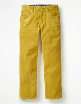 Soft Lime Yellow Slim Cord Jeans