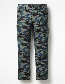 Raft Grey Camouflage Cargo Pants