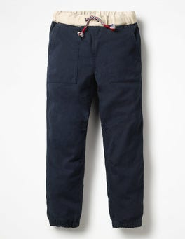 Midnight Blue Pull-on Utility Trousers