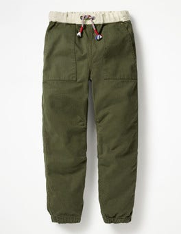 Swamp Green Pull-on Utility Trousers