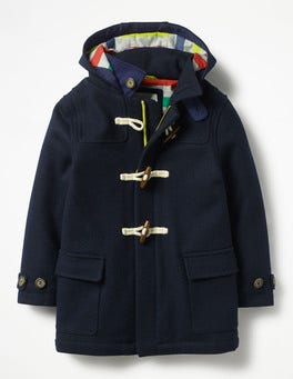 School Navy Duffle Coat