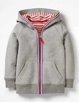 Grey Marl Jaspe Essential Zip-up Hoodie