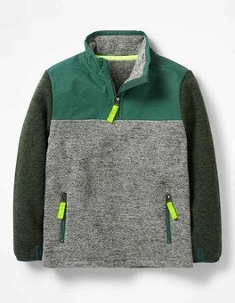 Sporty Half-zip Sweatshirt