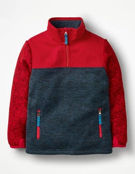 Salsa Red Sporty Half-zip Sweatshirt