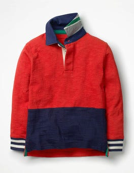 Salsa Red/School Navy Rugby Shirt