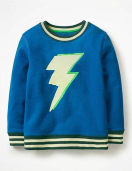 Daphne Blue Lightning Bolt Fun Sweatshirt