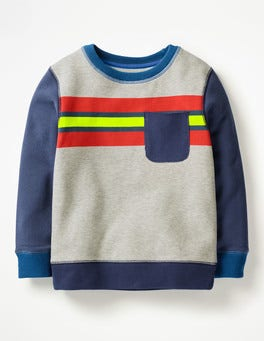 Grey Marl Jaspé/Starboard Blue Fun Sweatshirt