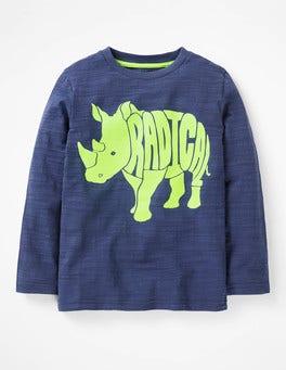 Starboard Blue Radical Rhino Neon Pop Animal T-shirt