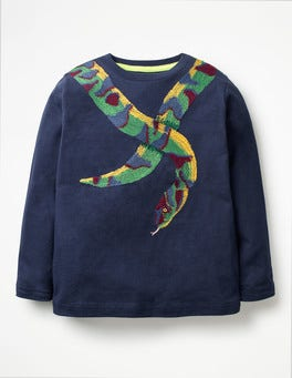School Navy Snake Wild Superstitch T-shirt