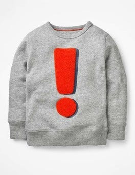 Grey Marl Exclamation Logo Sweatshirt