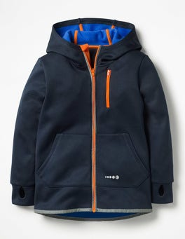 Midnight Blue Active Zip-up Hoodie