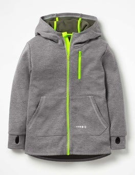 Grey Marl Active Zip-up Hoodie
